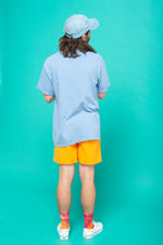 Empathy Oversized Cotton Tee - Periwinkle