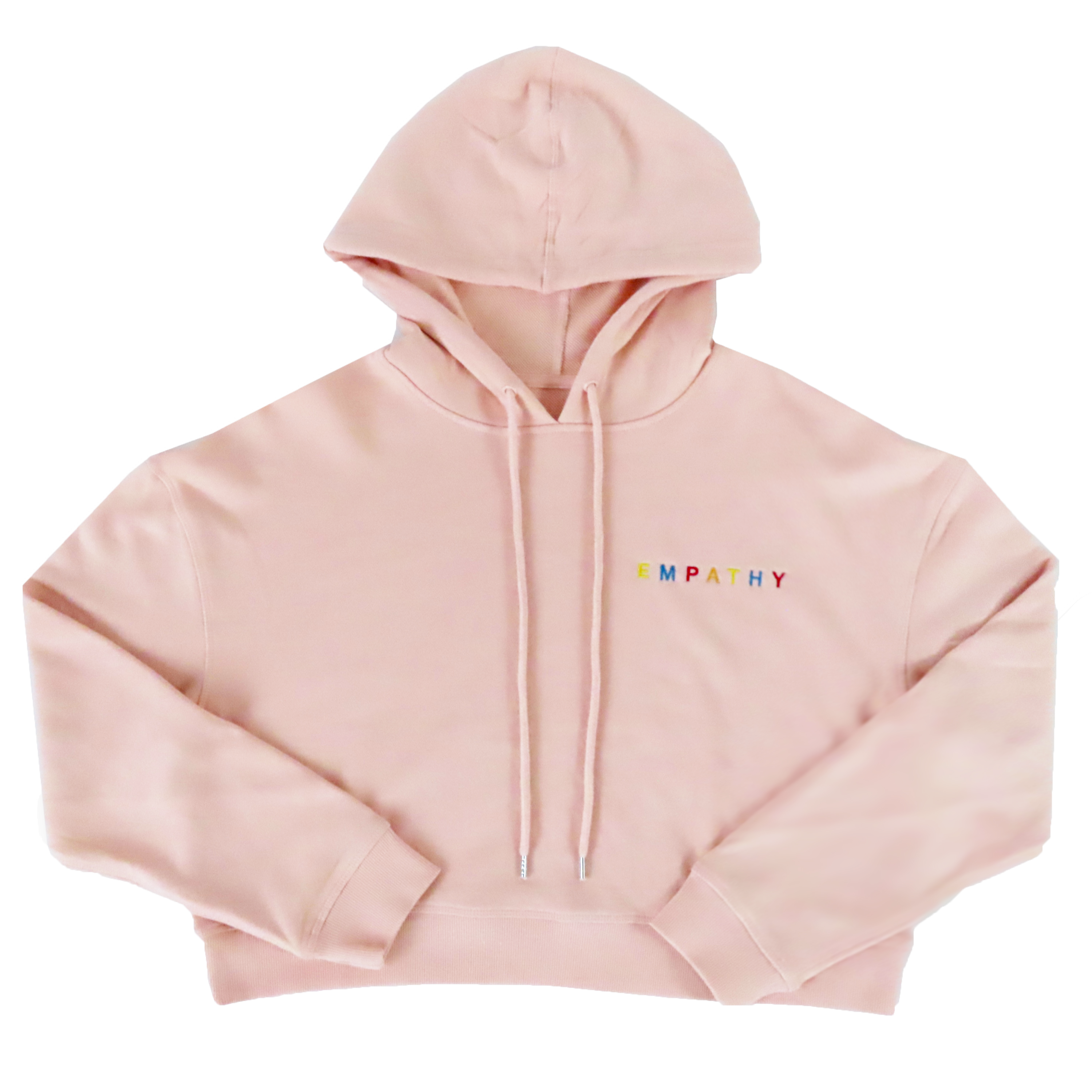 Empathy Women's Cropped Hoodie - Pale Pink