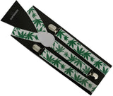 Rasta Hemp Leaf Suspenders