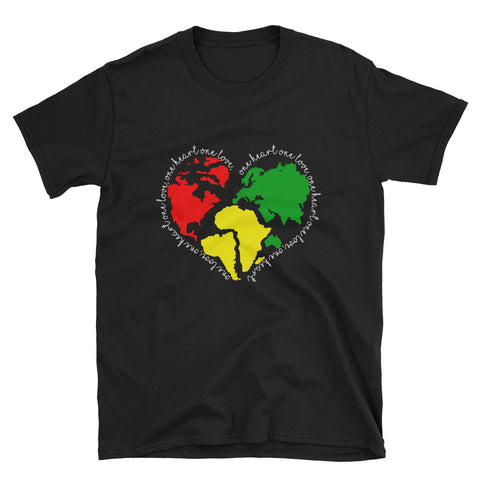 One Love One World Black T-Shirt
