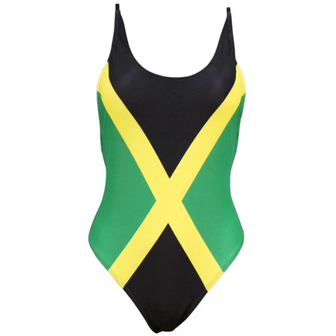 One Piece Jamaica Flag Swimsuit