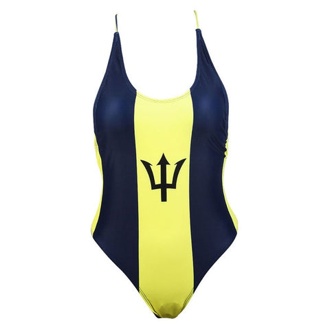 One Piece Caribbean Flag  Thong Swimsuit