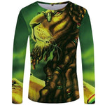 Dreadlock Lion Long T Shirt