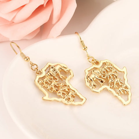 Gold Lion of Judah Earrings
