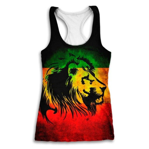 Rasta Lion Tank Top