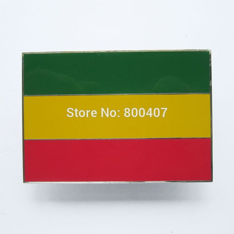 Ethiopian Flag Belt Buckle