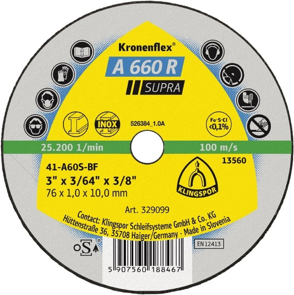 DISC CUTTING 50 x 1.0 x 10mm (A-329097)