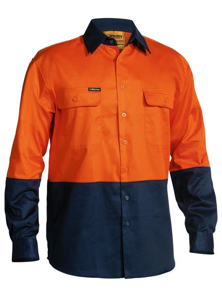 SHIRT HI VIS ORA/NAVY (C-BS6267ON)