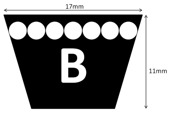 V-BELT B SECTION (T-B)