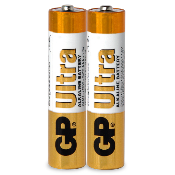 BATTERY ALKALINE 1.5V SIZE AAA (PACK 2) (E-GP15AUC5)