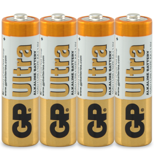 BATTERY ALKALINE 1.5V SIZE AA (PACK 4) (E-GP15AUC4)
