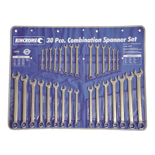 30PCE COMBINATION SPANNER SET AF/MET (H-K3030)