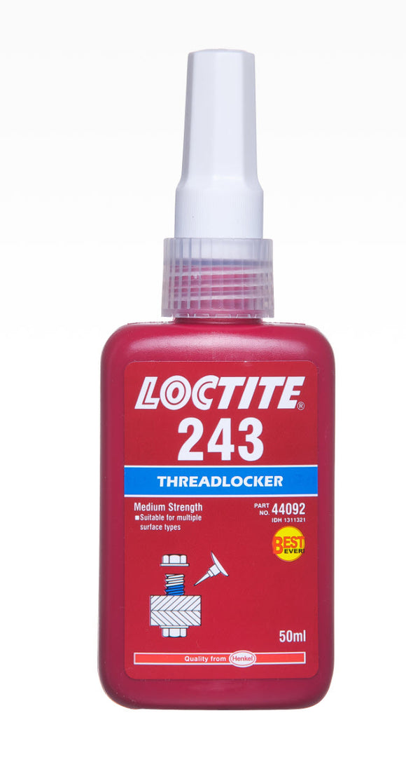 LOCTITE 243 THREADLOCKER MEDIUM 50ML (M-243)