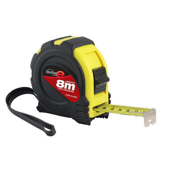 TAPE MEASURE 8M STERLING  (M-889)