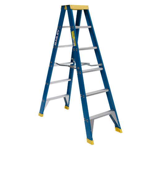 LADDER INDUSTRIAL 150KG 2.1m DOUBLE SIDED F/GLASS (M-FS10486)