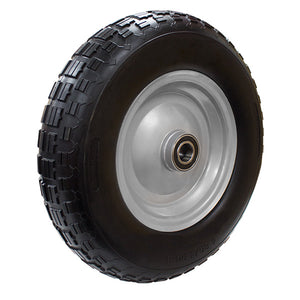 "WHEEL 400mm x 100mm x 1"" AXLE PUNCTURE PROOF (M-PF1642-1)"