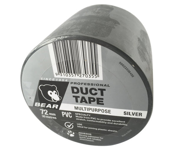 TAPE DUCT SILVER 72mm X 30m (P-66623336456)