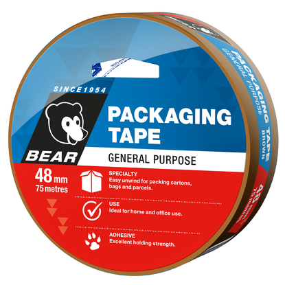 TAPE PACKING BROWN 48mm X 75m (P-66623336598)