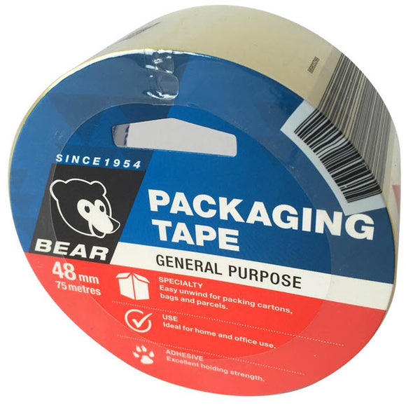 TAPE PACKING CLEAR 48mm X 75mm (P-66623336599)