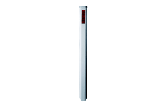 GUIDE POST 1.35m STEEL ROLLED EDGE 200 x 50 WHITE (SAF-1630601)