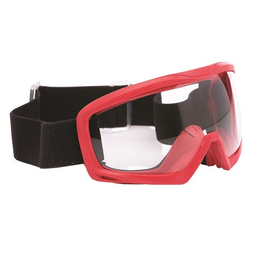 GOGGLE SAFETY INFERNO RED FRAME - CLEAR (SAF-6FR0)