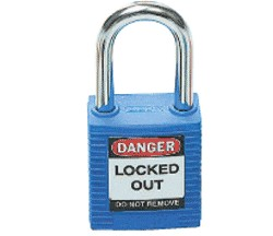 PADLOCK SAFETY 38MM x 44MM x 18MM BLUE (SAF-850816)