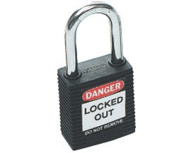 PADLOCK SAFETY 38MM x 44MM x 18MM BLACK (SAF-850817)