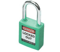 PADLOCK SAFETY 38MM x 44MM x 18MM GREEN (SAF-850818)