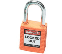 PADLOCK SAFETY 38MM x 44MM x 18MM ORANGE (SAF-850819)