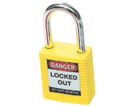 PADLOCK SAFETY 38MM x 44MM x 18MM YELLOW (SAF-850820)