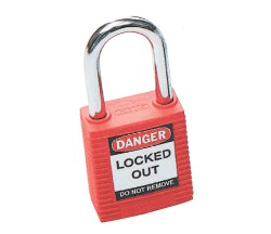PADLOCK SAFETY 38MM x 44MM x 18MM RED (SAF-850821)