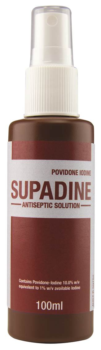 SUPADINE IODINE SPRAY 100ML (SAF-856734)