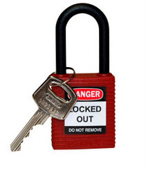 PADLOCK SAFETY 38MM x 44MM x 18MM NYLON RED (SAF-872386)