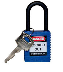 PADLOCK SAFETY 38MM x 44MM x 18MM NYLON BLUE (SAF-872387)