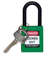 PADLOCK SAFETY 38MM x 44MM x 18MM NYLON GREEN (SAF-872388)