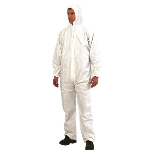 COVERALL DUST WHITE (SAF-DOWSMS)