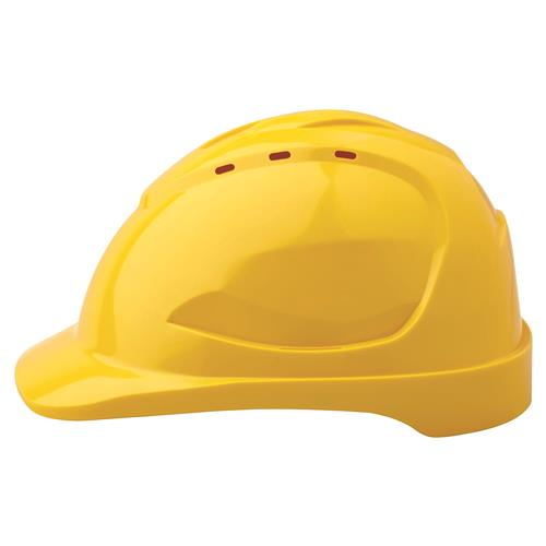 HARD HAT V9 PUSH LOCK HARNESS YELLOW (SAF-HHV9YELL)