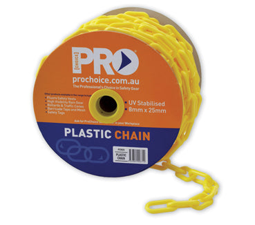 SAFETY CHAIN YELLOW 25m (SAF-PCY825)