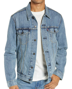 Levi/'s Denim Trucker Jacket Shelf Blue New With Tags #0136 FAST SHIPPING !!!