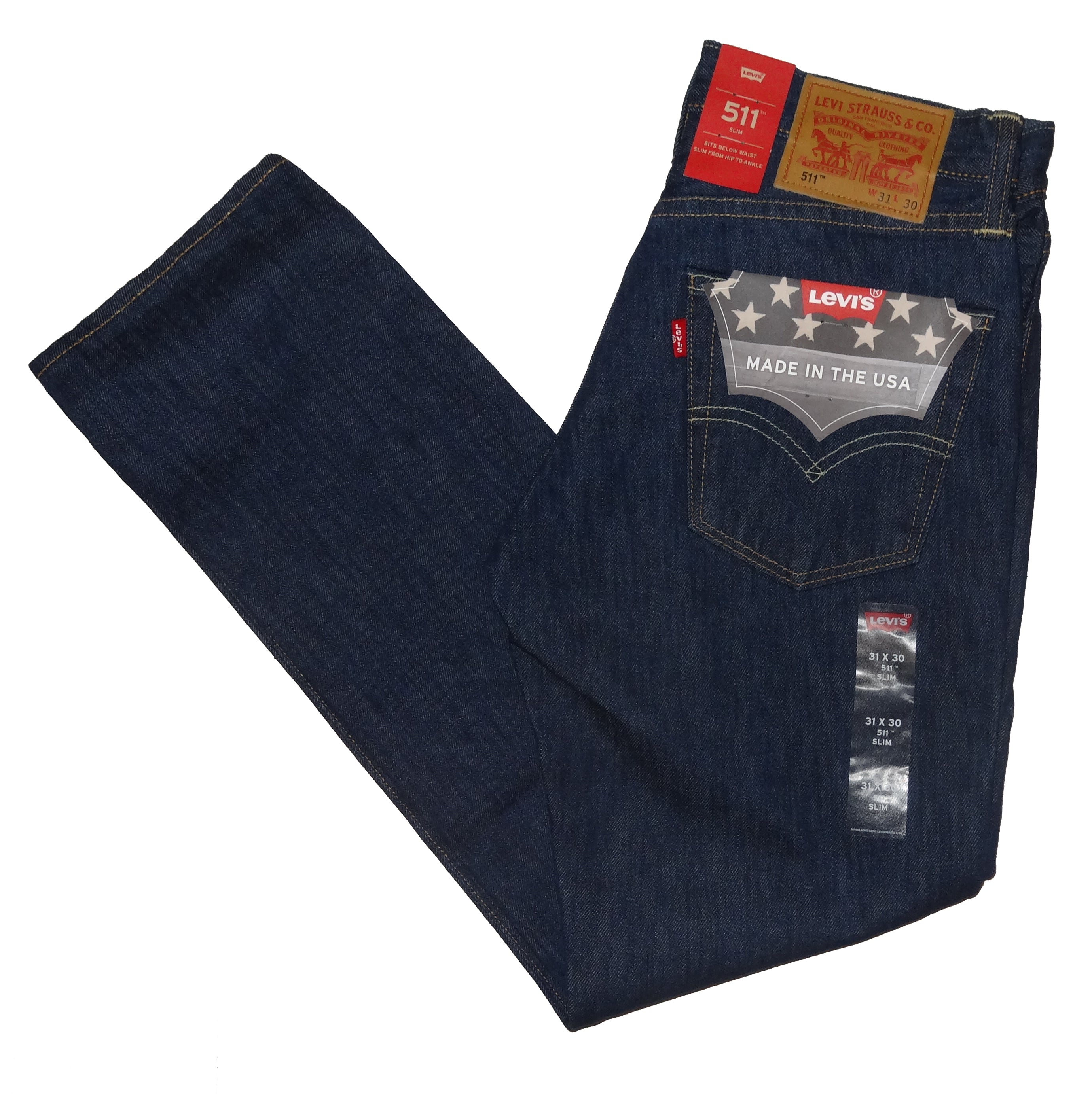 888fe9e90e3 LEVIS 511 SLIM FIT MADE IN USA PREMIUM WHITE OAK CONE DENIM JEANS ...
