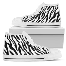 Zebra Women's High Top Sneakers