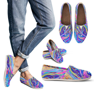 Psychedelic Women's Slip-On Shoes