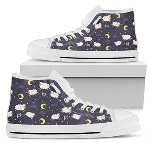 Sheep Women's High Top Sneakers