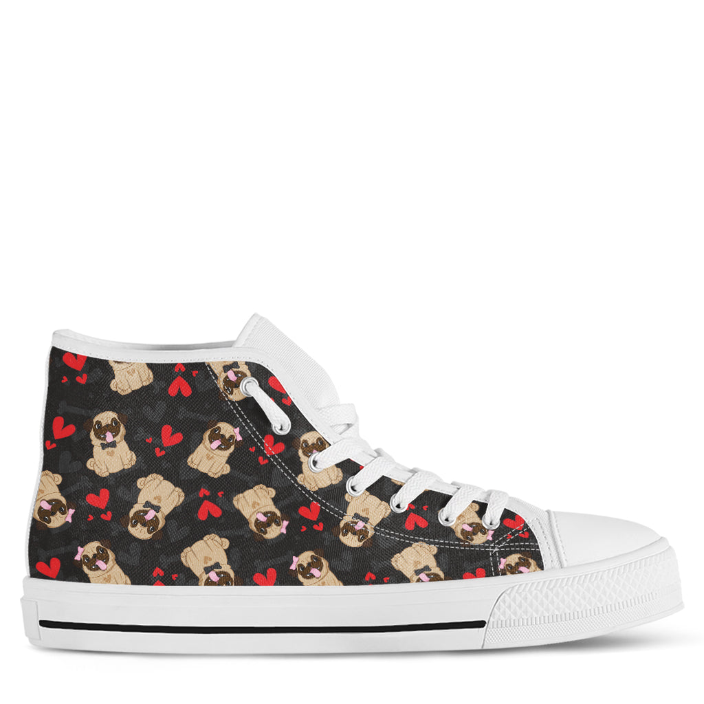 Pug Women's High Top Sneakers