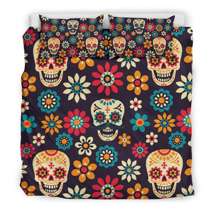 Sugar Skull Duvet Cover Set
