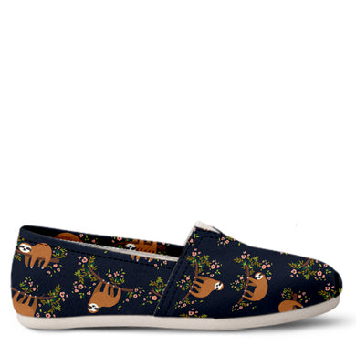 Sloth Women's Slip-On Shoes
