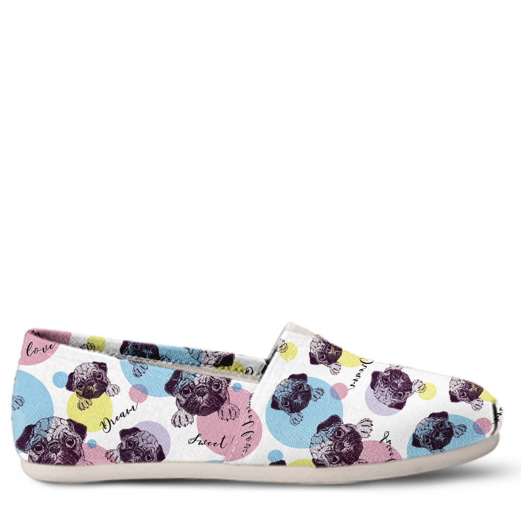 Pug Women's Slip-On Shoes