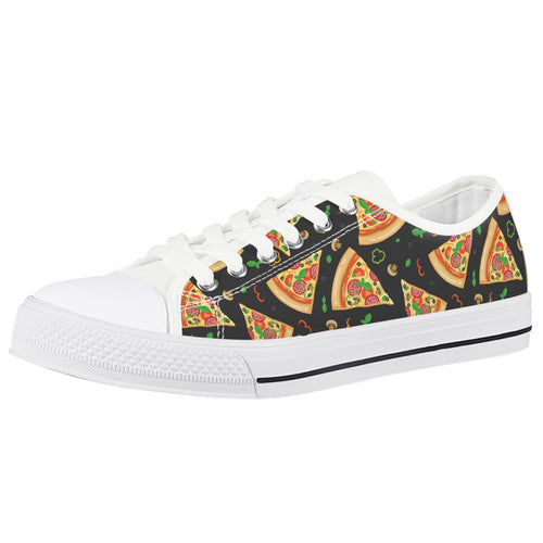 Pizza White Low Top Canvas Shoes