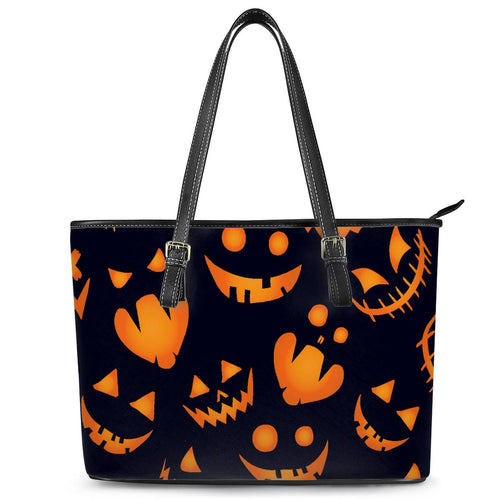 Halloween Leather Tote Bags