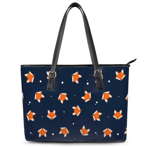 Fox Leather Tote Bags